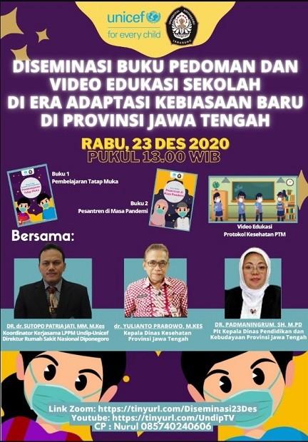 Diseminasi Buku Pedoman dan Video Edukasi Sekolah