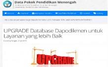UPGRADE Database Dapodikmen untuk Layanan yang lebih Baik