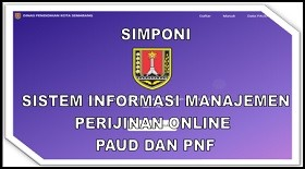 Sistem Manajemen Peijinan Online PAUD dan PNF